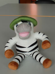 Puppe Zebra