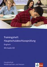 Trainingsheft Hauptschulabschlussprüfung Englisch mit Audio CD
