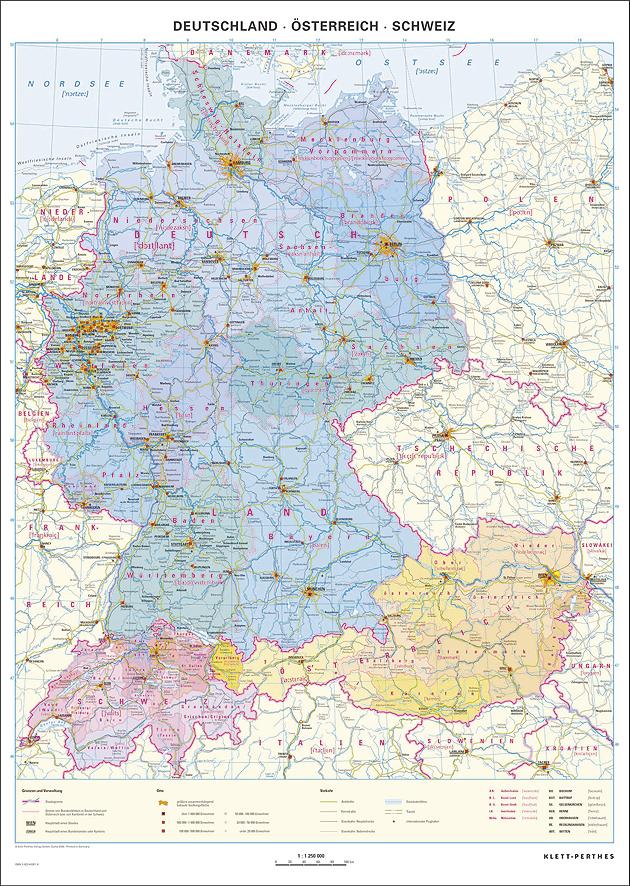 Karte Deutschland österreich.Deutschland österreich Schweiz