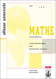 Ernst Klett Verlag - Arbeitsblätter Mathematik Termumformungen und ...