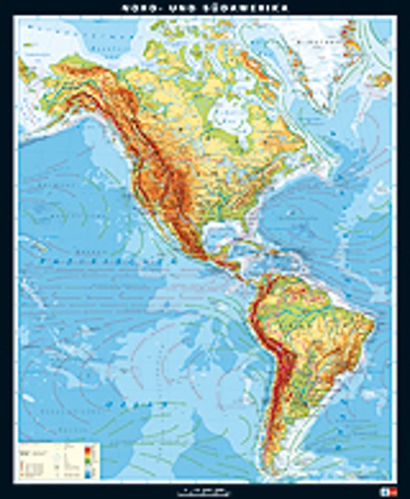Physische Karte Lateinamerika.Ernst Klett Verlag Wandkarten Produktart Produktubersicht