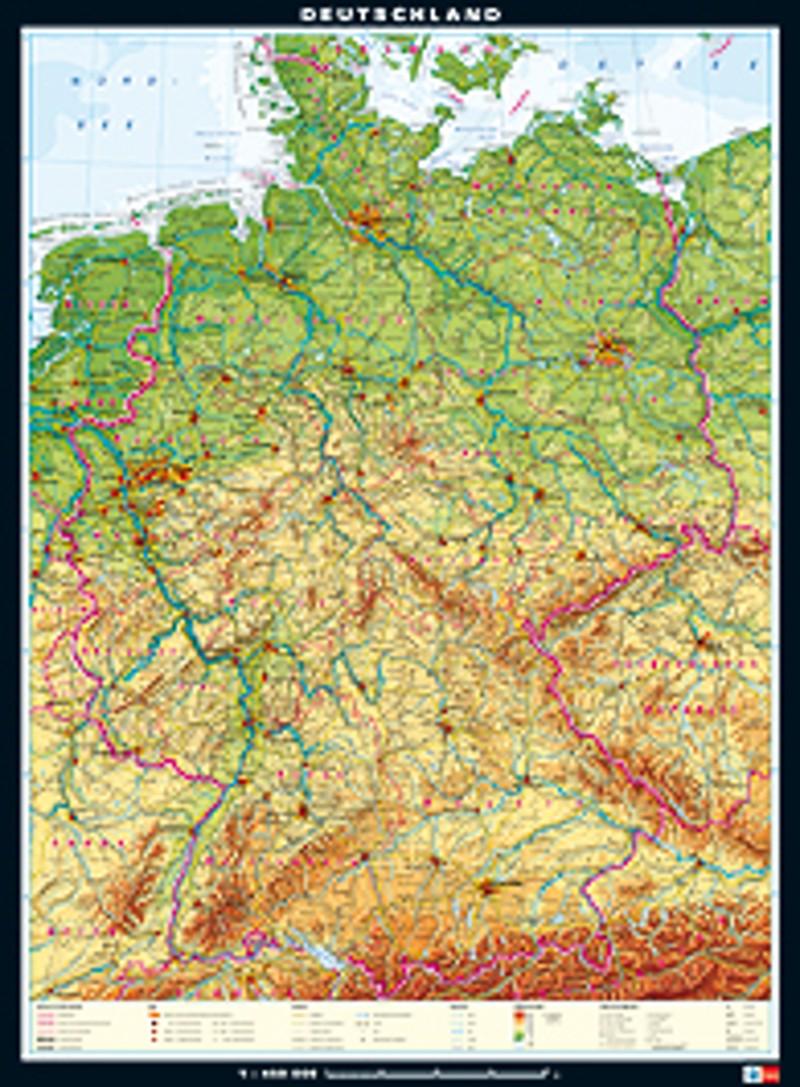 Ernst Klett Verlag Wandkarten Deutschland Lehrwerk