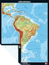 Südamerika, physisch/politisch