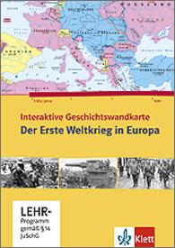 Interaktive Geschichtswandkarte - Der Erste Weltkrieg in Europa